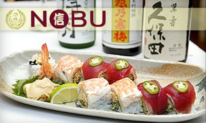 Nobu Gourmet Japanese Restaurant - Encinitas: $15 for $35 Worth of Japanese Cuisine and Drinks at Nobu Gourmet Japanese Restaurant in Solana Beach