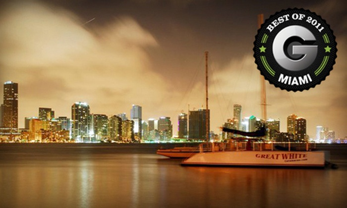 Playtime Watersports - Miami: $35 for a 2.5-Hour Biscayne Bay Sunset Cruise with Drinks and Snacks from Playtime Watersports ($75 Value)