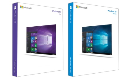 Microsoft Windows 10 Home of Professional, downloadbare versie