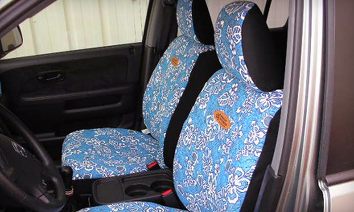 Hawaiian Seat Covers - Aiea: $64 for Custom-Printed Covers for Front Car Seats at Hawaiian Seat Covers in Aiea (Up to $180 Value)