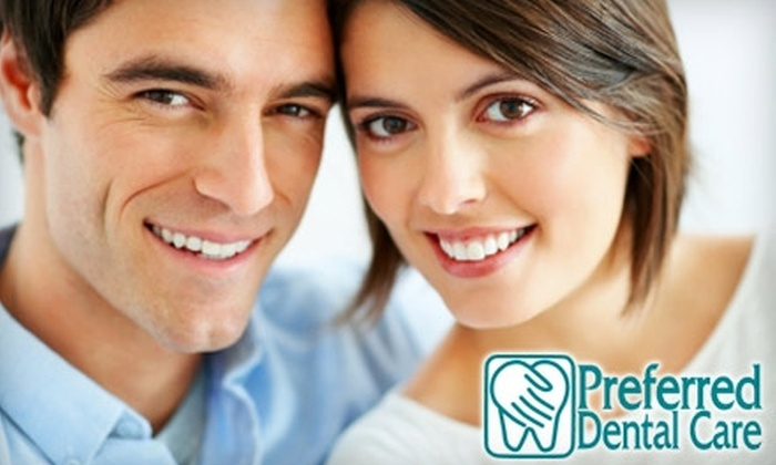 Preferred Dental Care - Multiple Locations: $49 for an Exam, Cleaning, and X-Rays ($335 Value) or $179 for a Zoom! Teeth-Whitening Session ($550 Value) at Preferred Dental Care