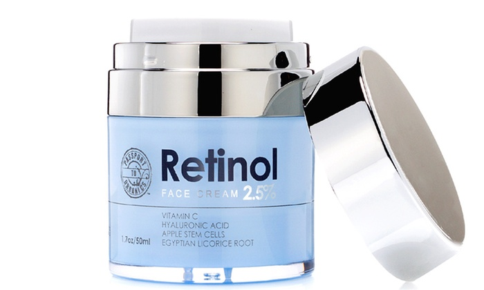 Passport to Organics Retinol 2.5% High Potency Anti-Aging Cream, 1.7oz: Passport to Organics Retinol 2.5% High Potency Anti-Aging Cream, 1.7oz