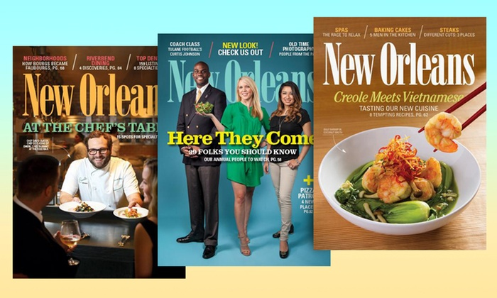 """New Orleans Magazine - New Orleans: One- or Three-Year Subscription to """"New Orleans Magazine"""" (Up to 55% Off)"""