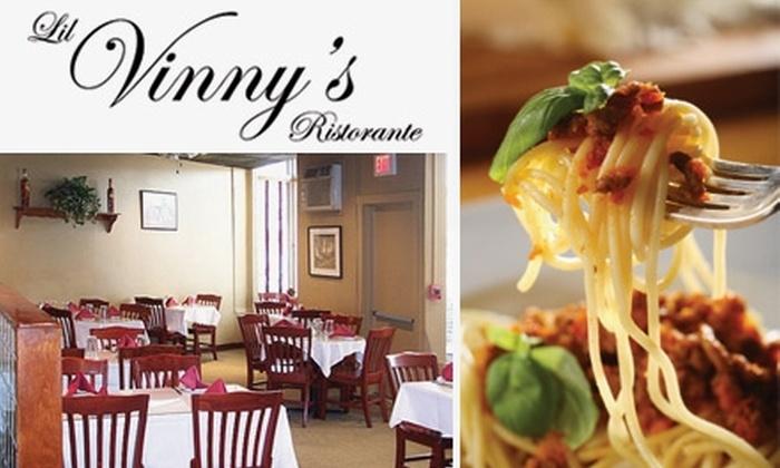 Lil Vinny's Ristorante - Magoun Square: $20 for $45 Worth of Authentic Italian Fare at Lil Vinny's Ristorante