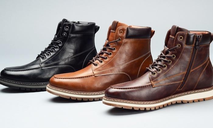 6ea47163c9b Harrison Men's Casual Moc-Toe Ankle Boots (Size 12) | Groupon