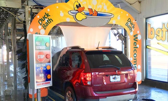 Quick Quack Car Wash - Multiple Locations: Three Shine Eco-Friendly Car Washes at Quick Quack Car Wash (49% Off). Valid at 11 Locations.