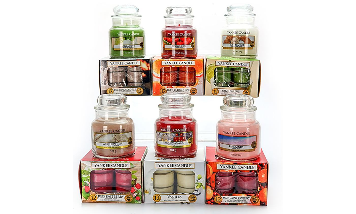 Yankee Candle Assorted Lucky Dip of 6 Small Jars and 6 Packs of 12 Tealights