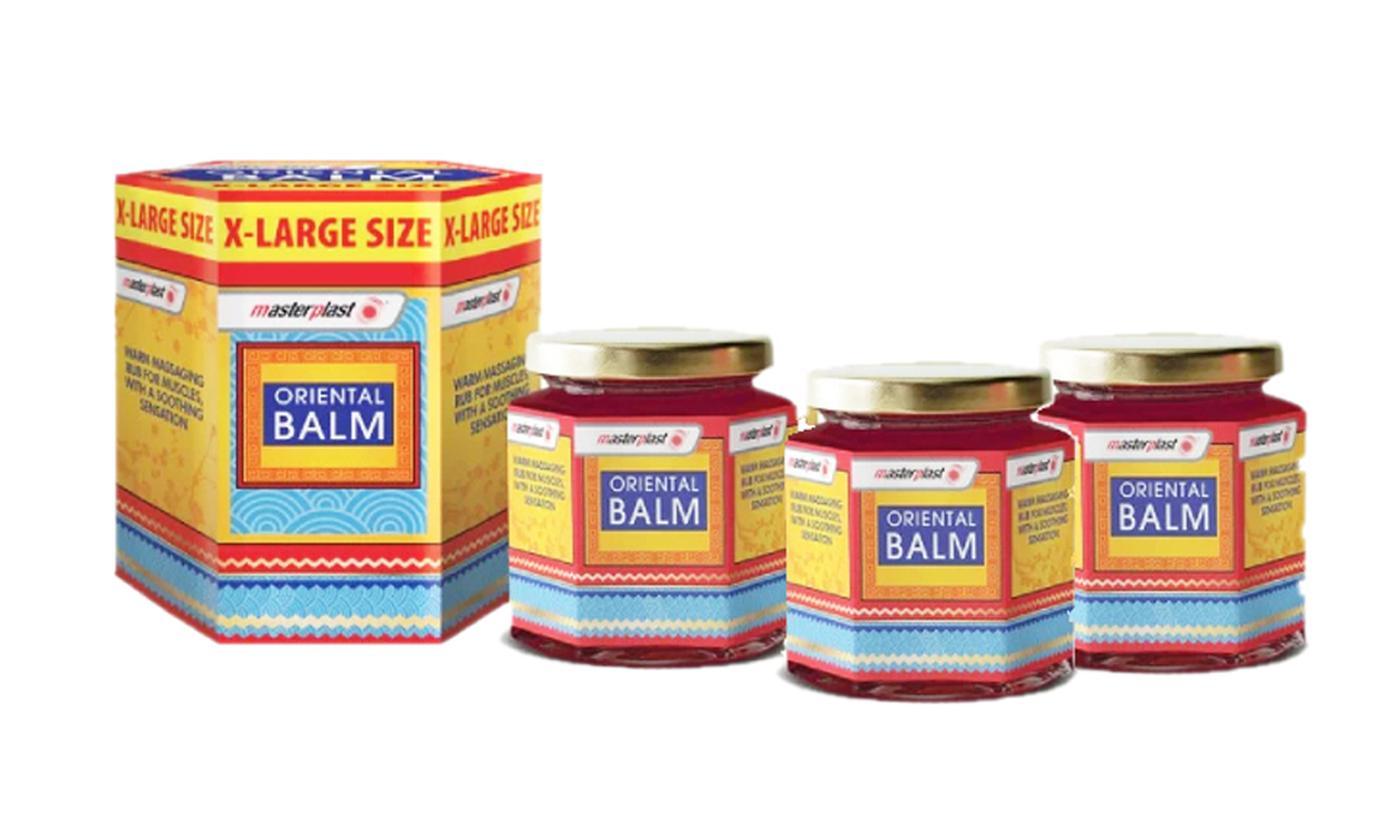 Pack of Three Masterplast Oriental Rubs and XL Balms