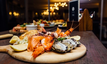Tapas and Chips $24 with Seafood Board $49 or 6 People $89 at Lagoon Deck Bar Up to $173