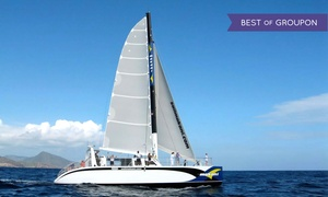 Makani Catamaran: Afternoon Sail, Dinner Cruise, or Snorkeling & Lunch Sail for a Child or Adult from Makani Catamaran (51% Off)