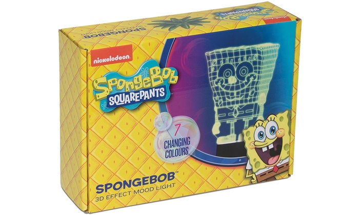 Nickelodeon Spongebob 3D Effect Multi-Colour Mood Light for £6.29