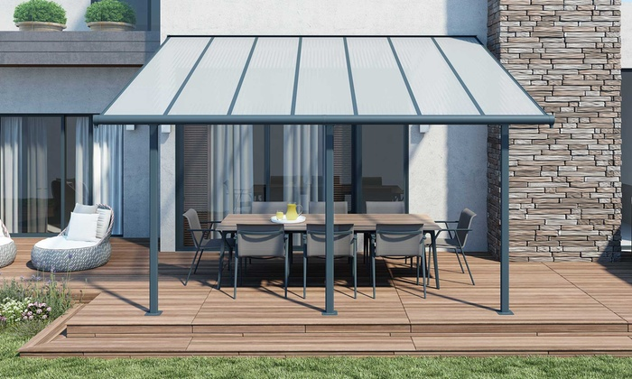 pergola toit terrasse aluminium groupon. Black Bedroom Furniture Sets. Home Design Ideas