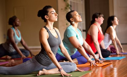 image for Five Yoga Classes or a Month of Unlimited Yoga Classes at Pure Prana Yoga Studio (Up to 73% Off)