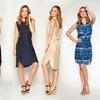 Women's Sleeveless Belted Shirt Dress