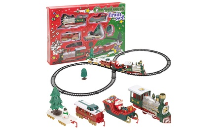 One or Two Christmas Train Sets with Light and Sounds