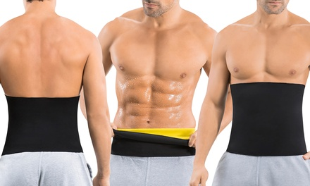 Hot Shapers Men's Waist-Trimmer Sauna Belt