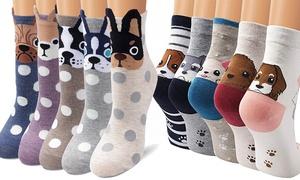 Chaussettes coton imprimés chien