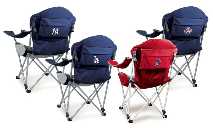 Fabulous Up To 28 Off On Picnic Mlb Reclining Camp Chair Groupon Goods Creativecarmelina Interior Chair Design Creativecarmelinacom