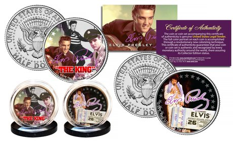 Elvis Presley Kennedy Half Dollar Two-Coin Set