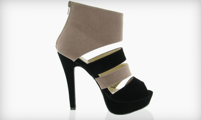 Brida Shoes - White Oaks: Footwear and Handbags at Brida Shoes (50% Off). Two Options Available.