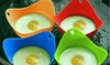 Two Silicone Egg Steamer Poacher Cookers