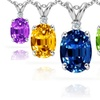 2.50 CTTW Genuine Gemstone and Diamond Pendant