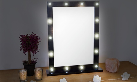 Globrite Hollywood LED Table Mirror in Choice of Colour