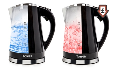 Tower T10012 LED Colour-Changing Kettle in Choice of Colour