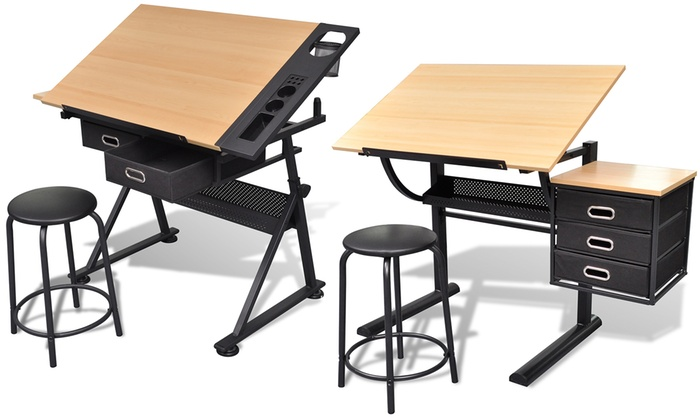 table dessin inclinable tabouret groupon. Black Bedroom Furniture Sets. Home Design Ideas