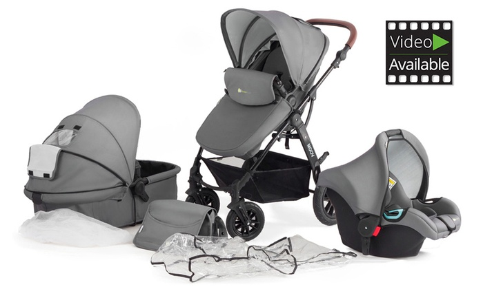 Groupon Goods Global GmbH: Kinderkraft Three-in-One MOOV Stroller With Free Delivery