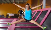 Entry to Trampoline Park for Up to Four at iBounce Trampoline Park (Up to 35% Off)