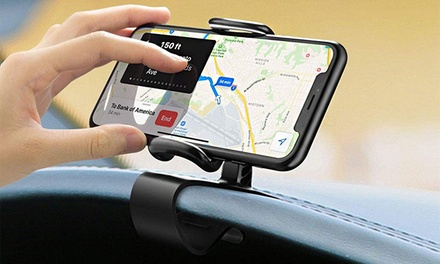 360Degree Rotation Car Dashboard Clip Smartphone Holder: One $12 or Two $19