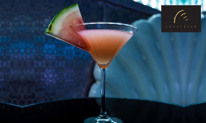 The Crazy Bear Group - Multiple Locations: Three Cocktails at The Crazy Bear £18.00 (60% off)