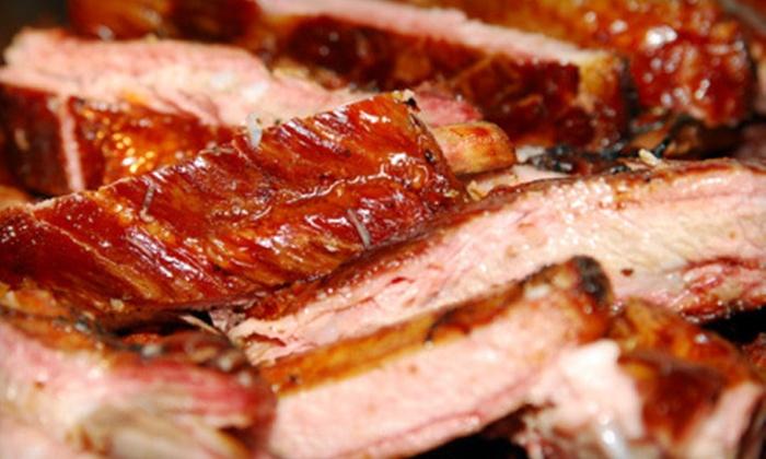 Ginopolis Bar-B-Q Smokehouse - Farmington: $30 for $60 Worth of Barbecue at Ginopolis Bar-B-Q Smokehouse