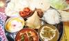 東京都/経堂 ≪カレー2種、ナン・ライス食べ放題など8品+選べるドリンク≫