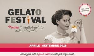 Zenais spa: Gelato Festival a Firenze, Parma, Napoli e Torino dal 21 aprile al 4 settembre (sconto fino a 67%)