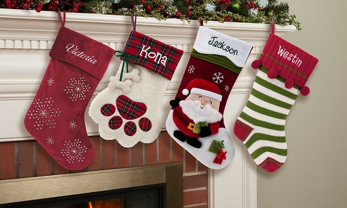 Christmas Stocking Personalized.Personalized Christmas Stocking Personalized Planet Groupon