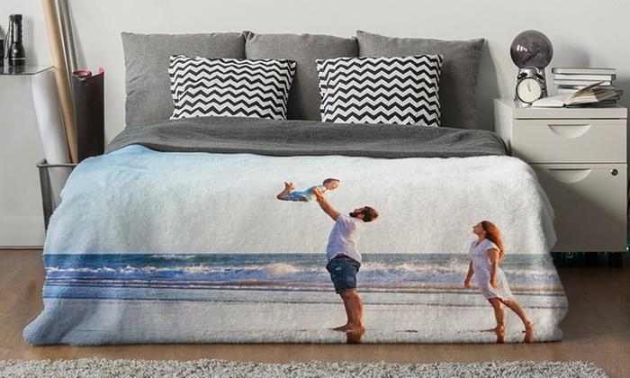 Kuschelige Fleece-Decke mit eigenem Foto von Photo Gifts (bis zu 84% sparen*)