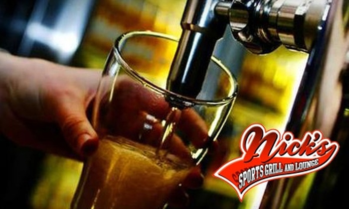Nick's Sports Grill and Lounge - Lubbock: $7 for $15 Worth of Tex-Mex Pub Fare and Drinks at Nick's Sports Grill and Lounge