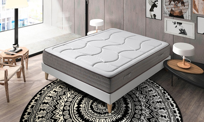matelas bambou m moire forme 27cm groupon shopping. Black Bedroom Furniture Sets. Home Design Ideas