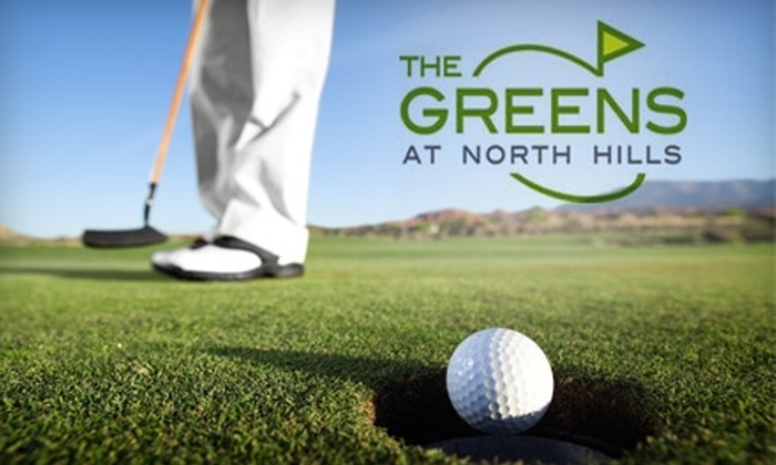 The Greens at North Hills - Sherwood: $99 for Three Private Golf Lessons and a Logo Shirt ($249 Value) or $25 for $50 Worth of Golf Balls at The Greens at North Hills
