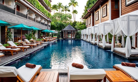 Bali, Legian: 5, 7 or 10 Nights or 2-6 People with Breakfast, Lunch/Dinner and Massage at 4* Astagina Resort and Spa