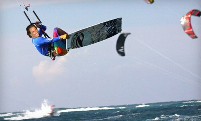 Miami Kiteboarding - Key Biscayne: $49 for One Kiteboarding Lesson ($100 Value) or $10 for One Paddleboard Rental ($20 Value) from Miami Kiteboarding