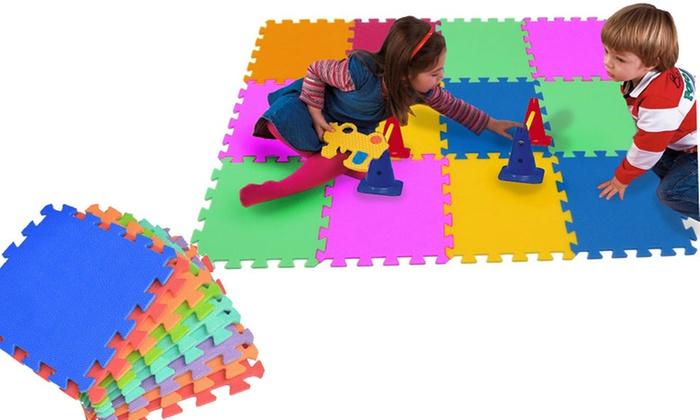 Tappeto puzzle con 10 pezzi