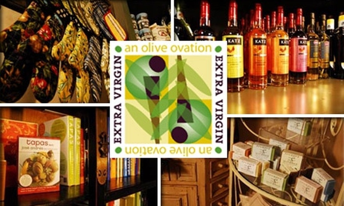 Extra Virgin, an Olive Ovation - Clayton: $25 Worth of Gourmet Artisan Oils and More at Extra Virgin, an Olive Ovation