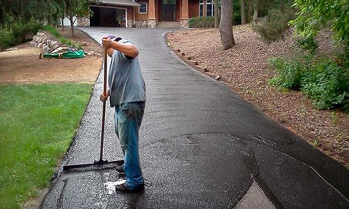 Saint Paul Sealcoat Company - Minneapolis / St Paul: Seal Coating for a Two- or Three-Car Driveway from Saint Paul Sealcoat Company (Up to 51% Off)