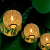 Trend Matters Solar String Lights with Metal Mesh Ball