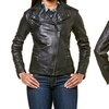 Cole Haan Moto Smooth-Leather Women's Jackets