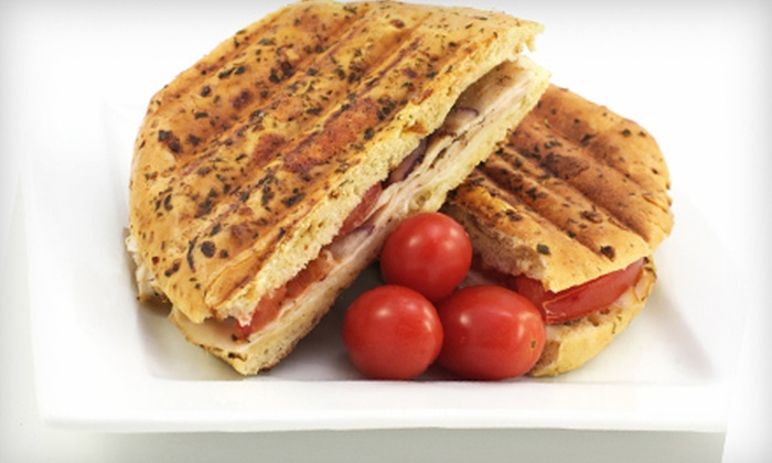 The Java House Café - Middletown: $5 for One Panini and Drink at The Java House Café in Middletown (Up to $11.90 Value)