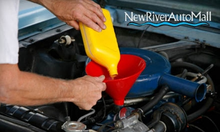 New River Auto Mall - Ridgeland: Synthetic Oil Change, Carwash, and More at Hilton Head Volkswagen or Audi Hilton Head. Choose Between Two Options.